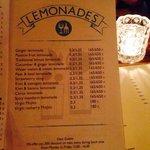 Drinks selection (lemonades)