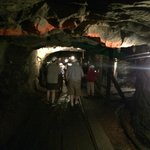 on the tour in the mine