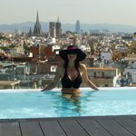 view from roof top pool
