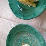 Walnut Ice cream and Lemon cake