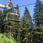 Mountain biking cable car