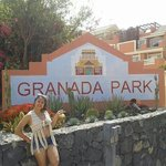 Me in front of Granada Park sign