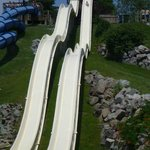 Water slide is 5-6 story walk up and fun!