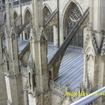 The Buttresses from on the Minster's roof.