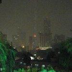La vista Nocturna desde la terraza