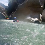 canyoning in the Congrejal River