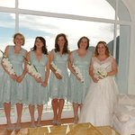 Bride and bridesmaids - amazing background