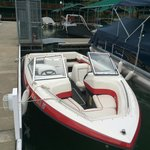 Coeur d'Alene Boat Rental:  Runabout front view