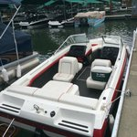 Coeur d'Alene Boat Rental:  Runabout Rear View