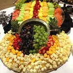 Fruit and cheese display (catering)