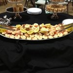 Shrimp display for an off-site catered event