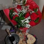 Flowers and Fizz I had requested and Natalie arranged