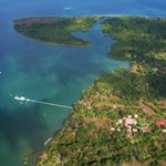 Crocodile Bay Resort from the air