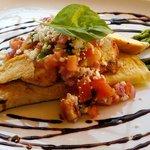 Chicken Bruschetta crepe