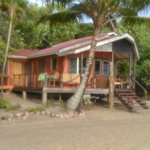 One of several bungalows located right on the beach.