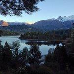 Foto del lago Moreno desde la ventana de Bellevue.