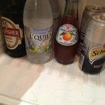 Water on minibar