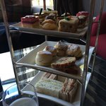 Zoomed in view of the three tier Afternoon Tea