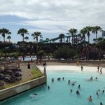Wave pool and new slides in background