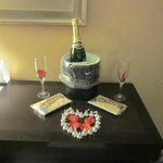 Champagne and chocolate gift