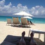praia, cadeiras do hotel
