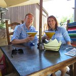 Me and Tim with a very yummy Mango Margarita