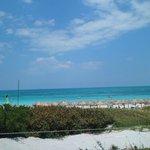 Vista desde el restauran de la playa.