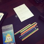 Welcome pencils for our son