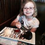 I ate all my lunch so my grand parents treated me to a lava cake with ice cream. YUM!