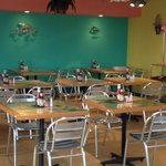 The colorful dining room at Jamaica Me Hungry Wildwood Crest