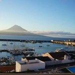 Pico volcano on Pico Island across the water