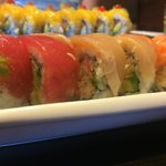 Rainbow Roll and Mango Mango Roll in background