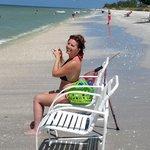 daughter on beach