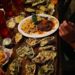 Oyster Sampler platter !!!! Off the chain.