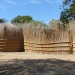 Traditional Swazi Village Behind Fence