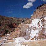 Salinas de Maras Blancas y Cielo Azul