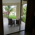 Looking out the patio doors