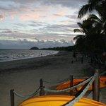 Kayaks at oceanfront