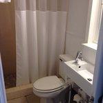Room 1 bathroom. Cozy.