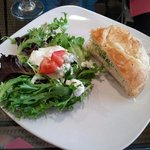 Combination Salad and Chicken Salad Sandwich.  Great!!!!!!