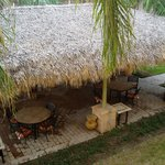 thatched roof BBQ area