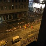 2am, jackhammers outside the window.