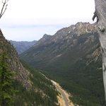 Looking down road to Twisp