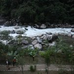 Vilcanota (Urubamba) River from our balcony
