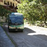 The bus arriving to take us to Machu Picchu for the day.