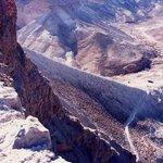 Roman rampart to breach the Masada fortress