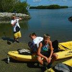 Beautiful Bay And Mangrove Island Up Ahead