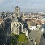 Iglesia de San Nicolas desde el Belfort