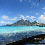 """""""mountain"""" view across lagoon"""