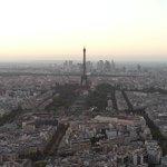 Visão panoramica da torre de montparnasse